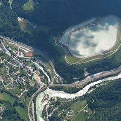 Flugwegposition um 12:26:02: Aufgenommen in der Nähe von Landl, Österreich in 2213 Meter