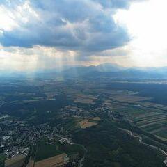 Flugwegposition um 15:05:50: Aufgenommen in der Nähe von Gemeinde Lanzenkirchen, Österreich in 1134 Meter