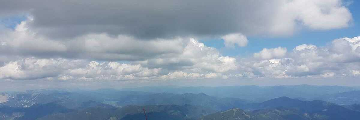 Flugwegposition um 13:07:54: Aufgenommen in der Nähe von Hafning bei Trofaiach, Österreich in 2218 Meter