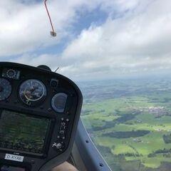 Flugwegposition um 11:19:38: Aufgenommen in der Nähe von Oberallgäu, Deutschland in 1538 Meter