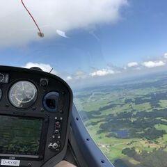 Flugwegposition um 11:19:55: Aufgenommen in der Nähe von Oberallgäu, Deutschland in 1530 Meter