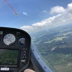 Flugwegposition um 11:20:00: Aufgenommen in der Nähe von Oberallgäu, Deutschland in 1538 Meter