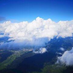 Flugwegposition um 14:43:28: Aufgenommen in der Nähe von Gemeinde Thomatal, 5592 Thomatal, Österreich in 3389 Meter