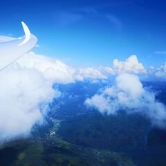 Flugwegposition um 14:37:48: Aufgenommen in der Nähe von Gemeinde Thomatal, 5592 Thomatal, Österreich in 2921 Meter