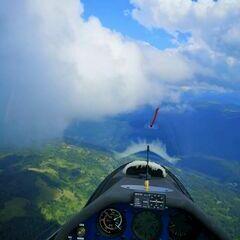 Flugwegposition um 14:02:04: Aufgenommen in der Nähe von Gemeinde Tamsweg, 5580 Tamsweg, Österreich in 2455 Meter