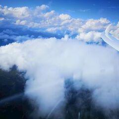 Flugwegposition um 14:50:21: Aufgenommen in der Nähe von Gemeinde St. Michael im Lungau, 5582, Österreich in 3352 Meter