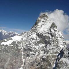Verortung via Georeferenzierung der Kamera: Aufgenommen in der Nähe von Visp, Schweiz in 3670 Meter