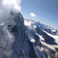 Verortung via Georeferenzierung der Kamera: Aufgenommen in der Nähe von Visp, Schweiz in 4187 Meter