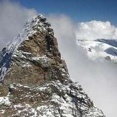 Verortung via Georeferenzierung der Kamera: Aufgenommen in der Nähe von Visp, Schweiz in 4355 Meter