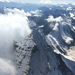 Verortung via Georeferenzierung der Kamera: Aufgenommen in der Nähe von Visp, Schweiz in 4900 Meter