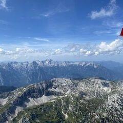 Flugwegposition um 13:01:20: Aufgenommen in der Nähe von Weißenbach bei Liezen, 8940, Österreich in 2750 Meter