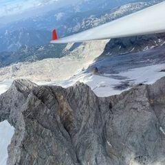 Flugwegposition um 13:44:43: Aufgenommen in der Nähe von Gemeinde Ramsau am Dachstein, 8972, Österreich in 3052 Meter