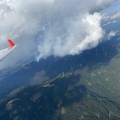 Flugwegposition um 15:36:11: Aufgenommen in der Nähe von Gemeinde Stanz im Mürztal, Österreich in 2370 Meter