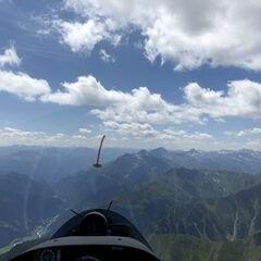 Flugwegposition um 11:47:14: Aufgenommen in der Nähe von Gemeinde Serfaus, Serfaus, Österreich in 3041 Meter