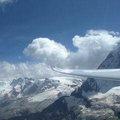 Verortung via Georeferenzierung der Kamera: Aufgenommen in der Nähe von Visp, Schweiz in 3800 Meter