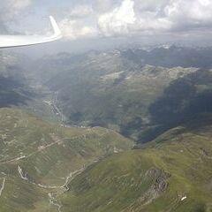 Verortung via Georeferenzierung der Kamera: Aufgenommen in der Nähe von Uri, Schweiz in 3400 Meter