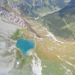 Flugwegposition um 11:29:06: Aufgenommen in der Nähe von Gemeinde Kaisers, Österreich in 2609 Meter