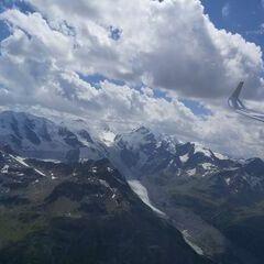Flugwegposition um 12:28:35: Aufgenommen in der Nähe von Maloja, Schweiz in 3427 Meter