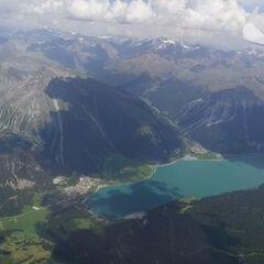 Flugwegposition um 12:53:40: Aufgenommen in der Nähe von 39027 Graun im Vinschgau, Südtirol, Italien in 3676 Meter