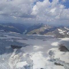 Flugwegposition um 13:09:09: Aufgenommen in der Nähe von 39027 Graun im Vinschgau, Südtirol, Italien in 3680 Meter