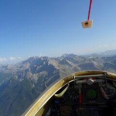 Flugwegposition um 15:38:50: Aufgenommen in der Nähe von Arrondissement de Briançon, Frankreich in 2802 Meter