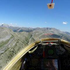 Flugwegposition um 13:51:39: Aufgenommen in der Nähe von Arrondissement de Digne-les-Bains, Frankreich in 2469 Meter
