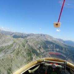 Flugwegposition um 13:51:32: Aufgenommen in der Nähe von Arrondissement de Digne-les-Bains, Frankreich in 2483 Meter