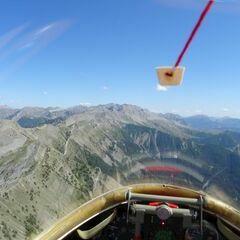 Flugwegposition um 13:51:30: Aufgenommen in der Nähe von Arrondissement de Digne-les-Bains, Frankreich in 2486 Meter