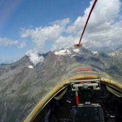 Flugwegposition um 11:28:15: Aufgenommen in der Nähe von Arrondissement de Saint-Jean-de-Maurienne, Frankreich in 3109 Meter