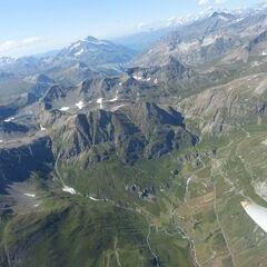 Flugwegposition um 13:56:11: Aufgenommen in der Nähe von Arrondissement de Saint-Jean-de-Maurienne, Frankreich in 3540 Meter