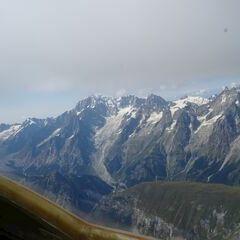 Flugwegposition um 13:27:24: Aufgenommen in der Nähe von 11017 Morgex, Aostatal, Italien in 3868 Meter