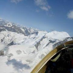 Flugwegposition um 13:12:51: Aufgenommen in der Nähe von Bezirk Entremont, Schweiz in 3858 Meter