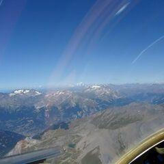 Flugwegposition um 12:01:16: Aufgenommen in der Nähe von 10052 Bardonecchia, Turin, Italien in 3748 Meter