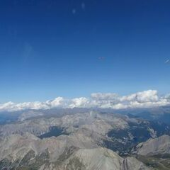 Flugwegposition um 14:23:31: Aufgenommen in der Nähe von Arrondissement de Briançon, Frankreich in 3776 Meter