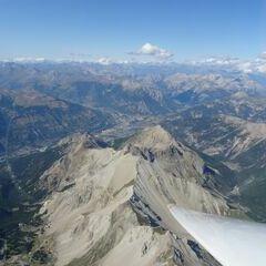 Flugwegposition um 14:23:26: Aufgenommen in der Nähe von Arrondissement de Briançon, Frankreich in 3786 Meter
