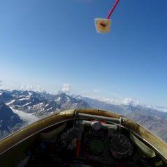 Flugwegposition um 14:02:04: Aufgenommen in der Nähe von Arrondissement de Briançon, Frankreich in 3916 Meter