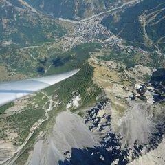 Flugwegposition um 13:44:27: Aufgenommen in der Nähe von Arrondissement de Briançon, Frankreich in 3426 Meter