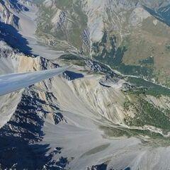 Flugwegposition um 13:44:32: Aufgenommen in der Nähe von Arrondissement de Briançon, Frankreich in 3424 Meter