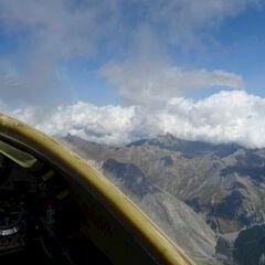 Flugwegposition um 12:53:53: Aufgenommen in der Nähe von Arrondissement de Barcelonnette, Frankreich in 3746 Meter