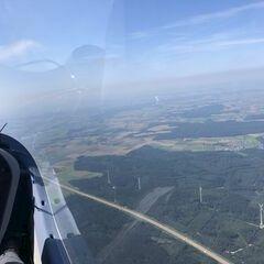 Flugwegposition um 13:46:05: Aufgenommen in der Nähe von Günzburg, Deutschland in 1577 Meter