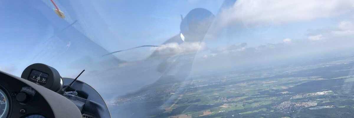Flugwegposition um 12:28:56: Aufgenommen in der Nähe von Ravensburg, Deutschland in 1505 Meter