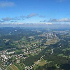 Flugwegposition um 11:32:19: Aufgenommen in der Nähe von Gemeinde Raach am Hochgebirge, 2640, Österreich in 1475 Meter