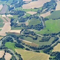 Flugwegposition um 13:05:29: Aufgenommen in der Nähe von Kreis Szentgotthárd, Ungarn in 1172 Meter