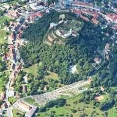 Flugwegposition um 13:15:48: Aufgenommen in der Nähe von Gemeinde Güssing, Güssing, Österreich in 1221 Meter