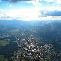 Flugwegposition um 14:43:35: Aufgenommen in der Nähe von Gemeinde Ternitz, Österreich in 1547 Meter