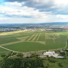 Flugwegposition um 15:20:18: Aufgenommen in der Nähe von Wiener Neustadt, Österreich in 428 Meter
