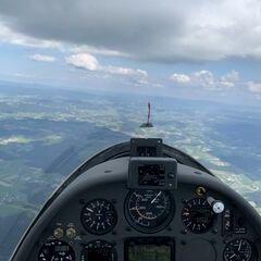 Verortung via Georeferenzierung der Kamera: Aufgenommen in der Nähe von Passau, Deutschland in 1900 Meter