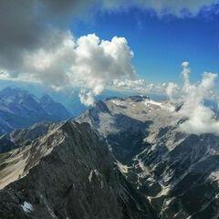 Verortung via Georeferenzierung der Kamera: Aufgenommen in der Nähe von Garmisch-Partenkirchen, Deutschland in 3200 Meter