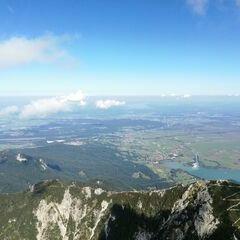 Verortung via Georeferenzierung der Kamera: Aufgenommen in der Nähe von Garmisch-Partenkirchen, Deutschland in 1946 Meter