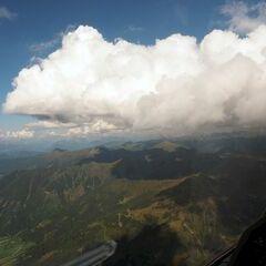 Flugwegposition um 14:01:06: Aufgenommen in der Nähe von Donnersbachwald, 8953, Österreich in 2536 Meter